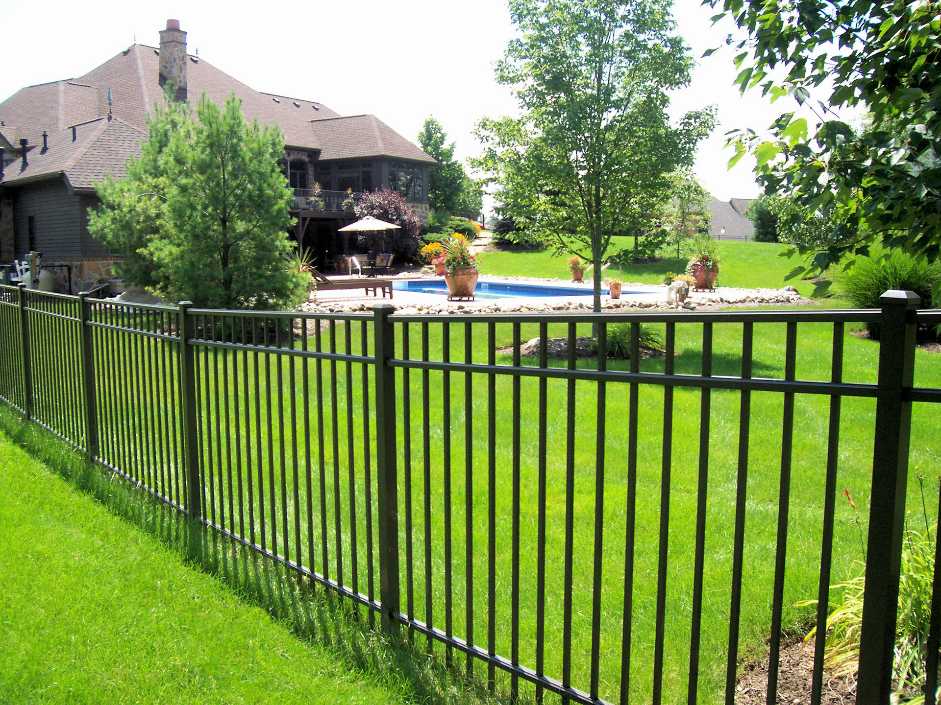 picket fence double gate. OnGuard Offers Single And Double Gates To Match All Fence Styles Colors. Constructed Of Heavy-walled Frames Welded With The Newest Aluminum Welding Picket Gate